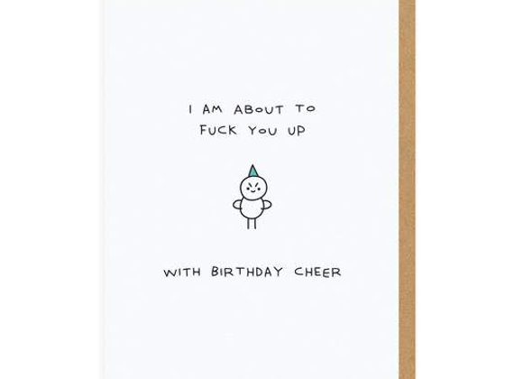 I Am about to Birthday Card by Ohh Deer