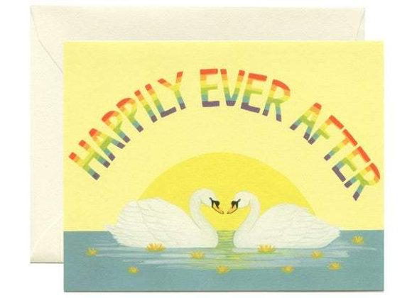 Rainbow Swans Card