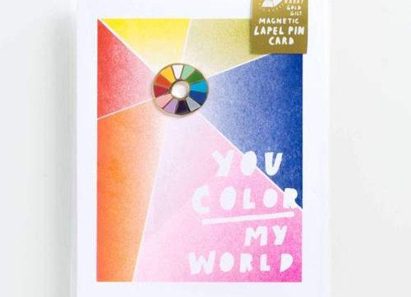 Colour Wheel Lapel Pin Card