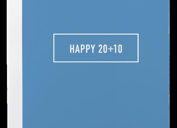 Happy 20+10 Card