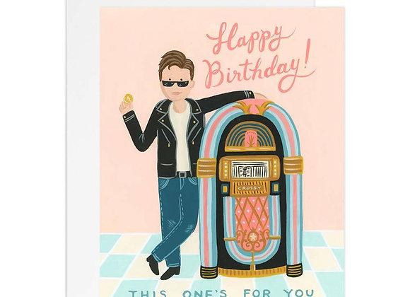 Jukebox Birthday Card
