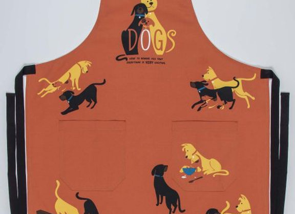 Dogs Here To Remind You That Everything Is Very Exciting Apron