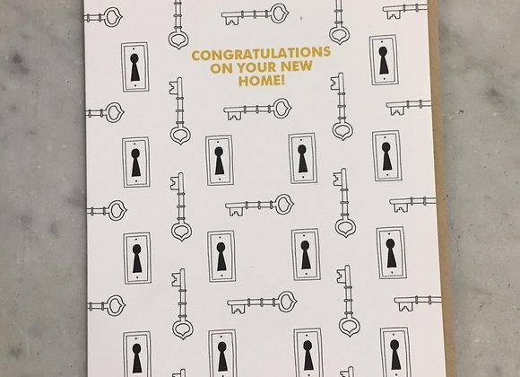 Skeleton Keys New Home Card