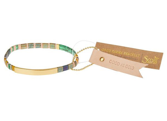 Good Karma Miyuki Bracelet Good As Gold Forest Blush Gold