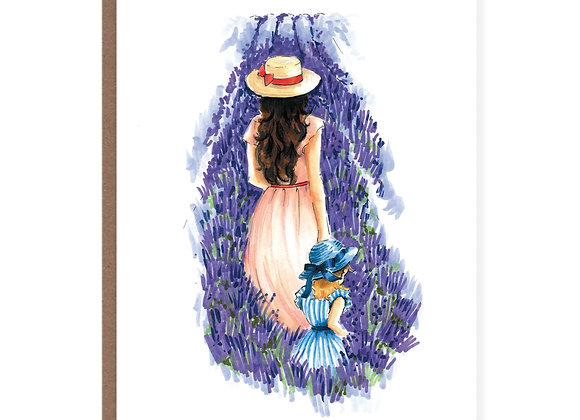 Lavender Field Mom Card