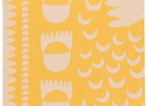 Crescendo Yellow Dishtowel