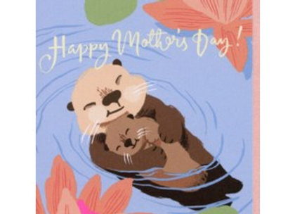 Otters Mother's Day Card