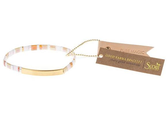 Good Karma Miyuki Bracelet Pure Magic Neutral Gold