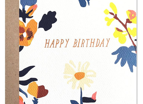 Happy Birthday Laura Floral Card