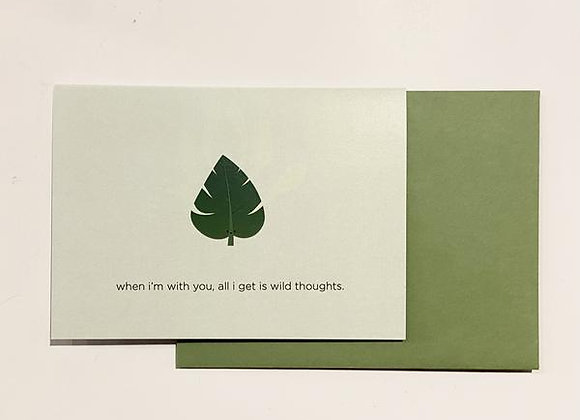 Wild Thoughts Card
