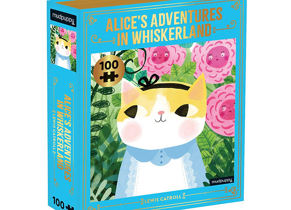 Alice's Adventures in Whiskerland Bookish Cats - 100 pc Puzzle