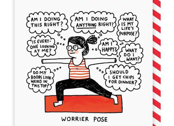 Worrier Pose Card by Ohh Deer