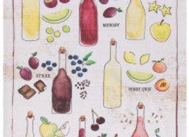 Wine Aromas Tea Towel