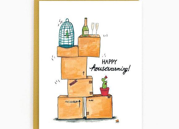 Happy Housewarming Boxes Card