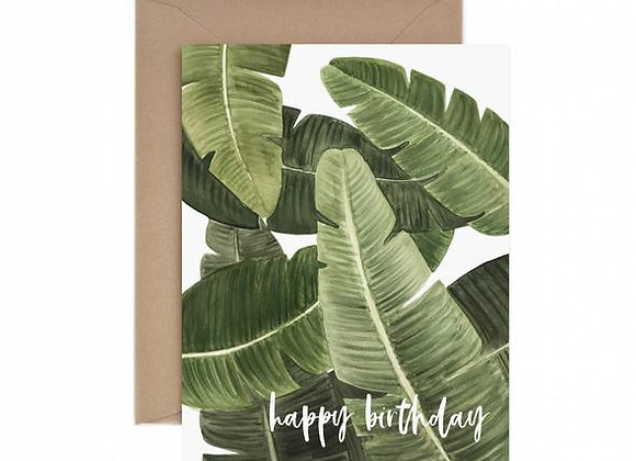 Banana Leaf Happy Birthday Card