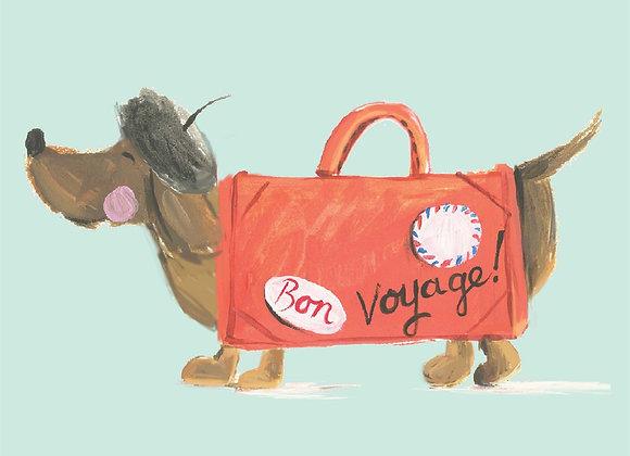 Bon Voyage Dog Card