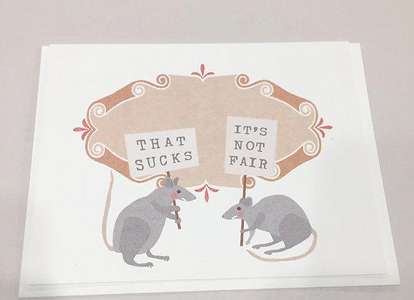 That Sucks Rats Card