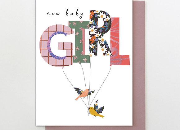 Girl New Baby Card