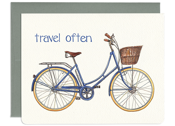 Travel Often Blue Dutch Bon Voyage Card