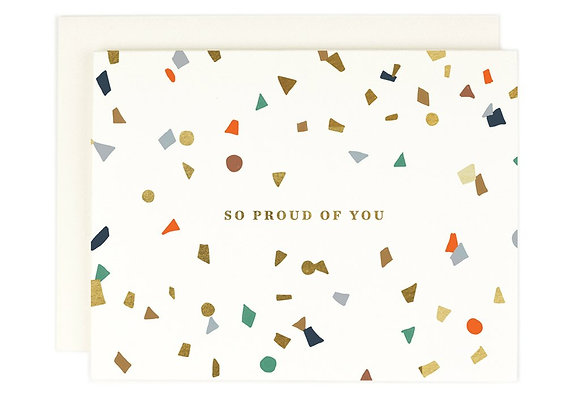 So Proud Of You Confetti Card