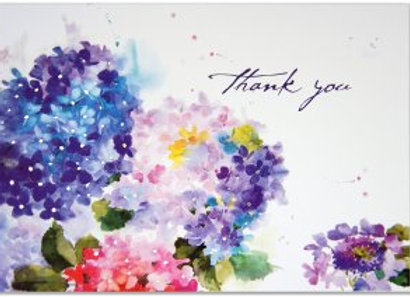 Hydrangeas Thank You Boxed Cards