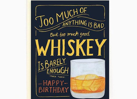 Birthday Whiskey Card