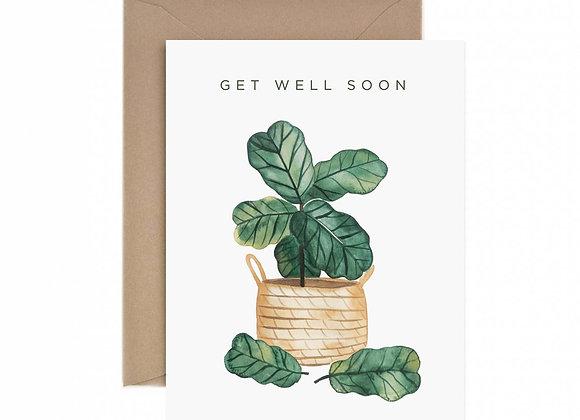 Get Well Soon Fiddle Leaf Fig Card