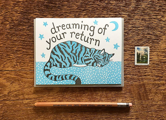 Kitty Dreaming Card