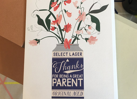Beer Can Parent Card