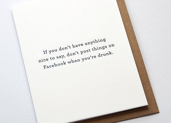Simple Drunk Facebook Card