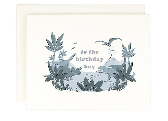 Birthday Boy Holographic Foil Card by Amy Heitman