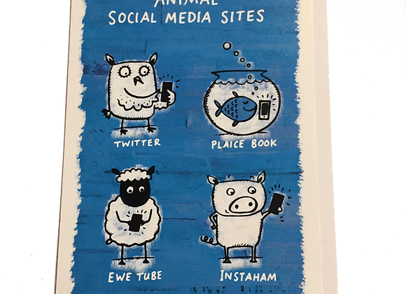 Animal Social Media Card