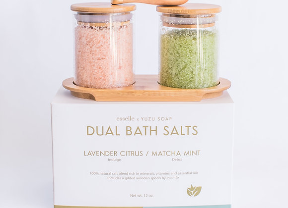 Dual Bath Salt Set Lavender & Matcha