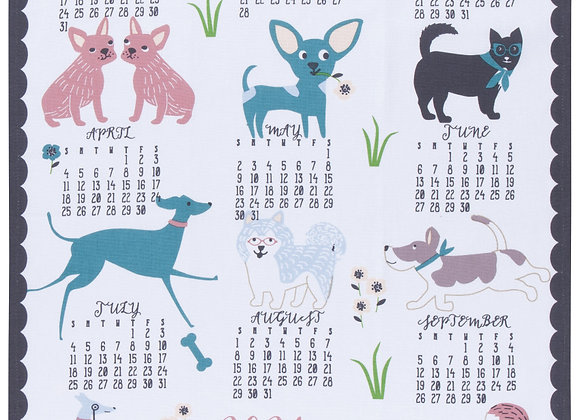 Canine Calendar 2021 Tea Towel
