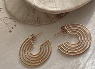 Lo-Fi Stainless Steel Hoop Earrings Rose Gold