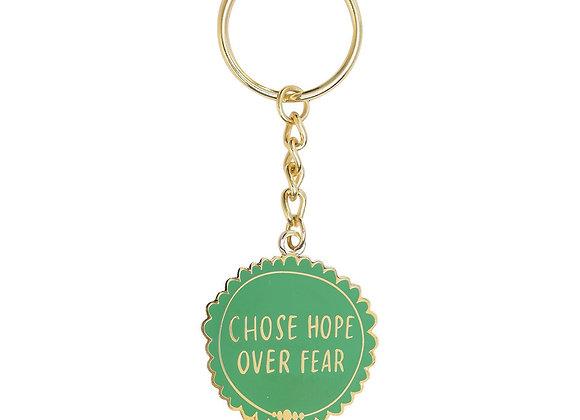 Choose Hope over Fear Medal Keychain