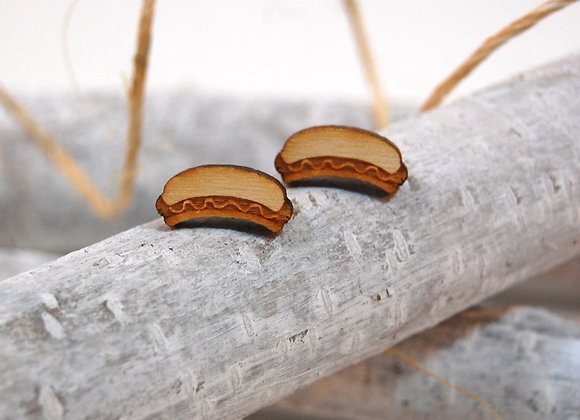Hot Dog Birch Surgical Steel Studs