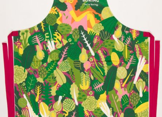 Greens Aren't Boring You're Boring Apron