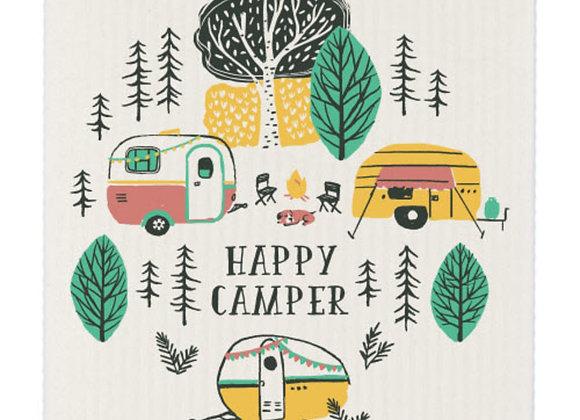 Dishcloth Swedish Happy Camper