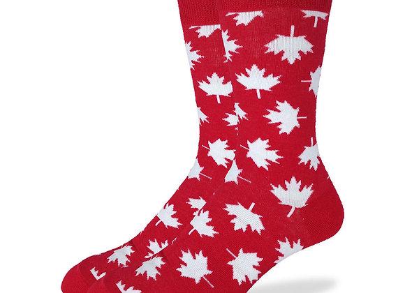 Crew Large Oh Canada Socks