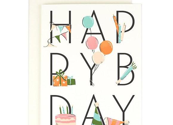 Happy Birthday Card by Amy Heitman