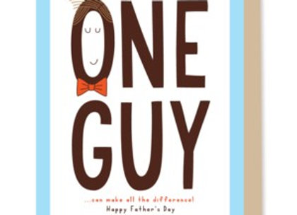 Father's Day One Guy Card