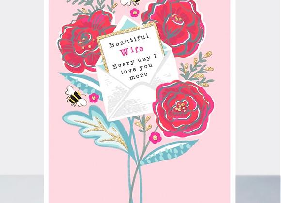 Beautiful Wife Card