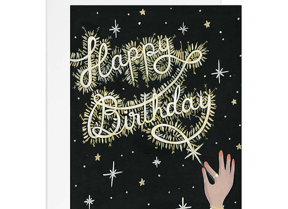 Sparkler Birthday Card