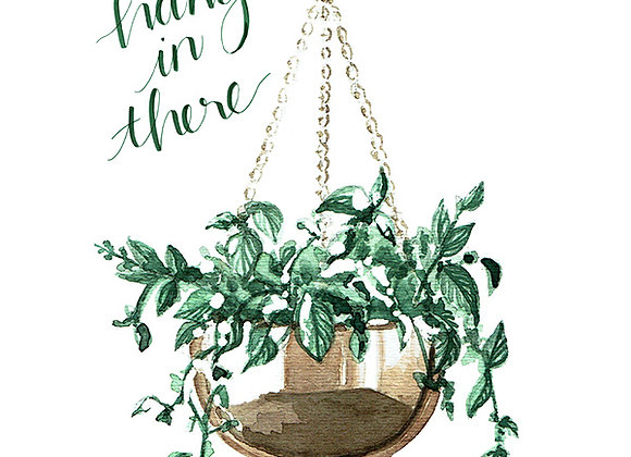 Hang In There Blank Card by Niki Kingsmill