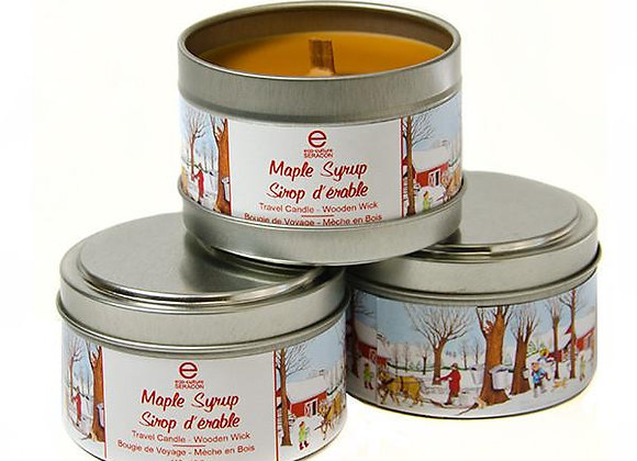 Maple Syrup Travel Candle Wood Wick