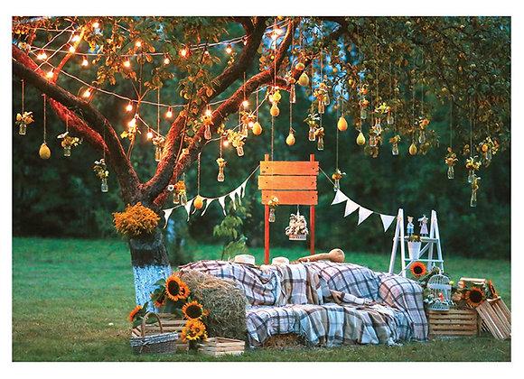 Rustic Photo Zone Birthday Card