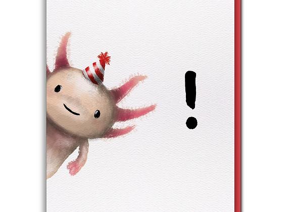 Axolotl Birthday Card