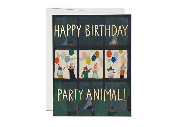 Animal House Foil Birthday Card