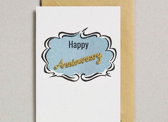 Word Happy Anniversary Card